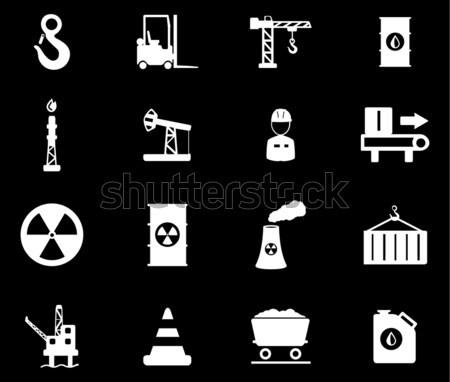 Foto stock: Indústria · simplesmente · ícones · teia · usuário