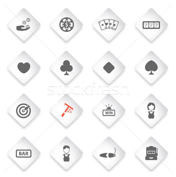 カジノ 単に アイコン シンボル webアイコン ユーザー ストックフォト © ayaxmr