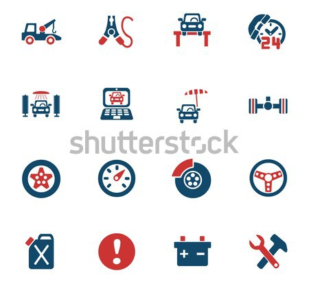 racing icon set Stock photo © ayaxmr