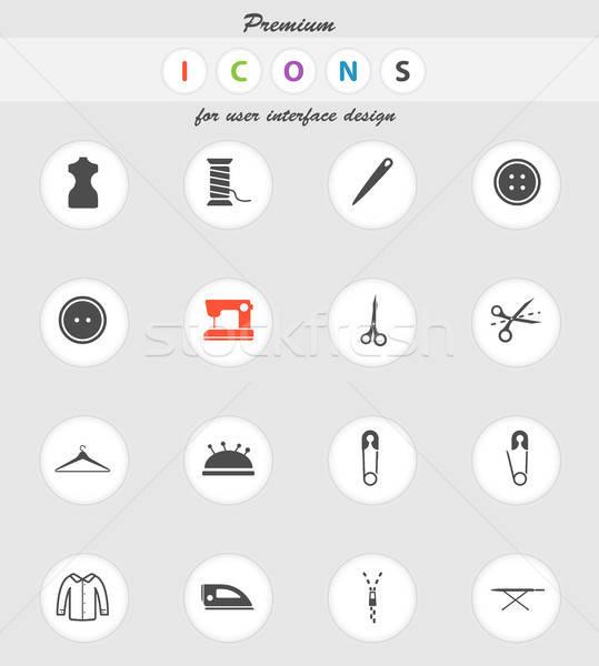 Tailoring simply icons Stock photo © ayaxmr