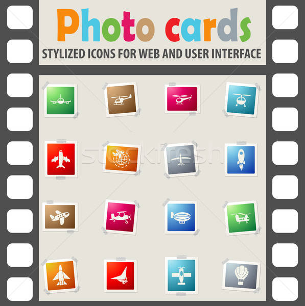 Lucht vervoer web icons gebruiker interface Stockfoto © ayaxmr