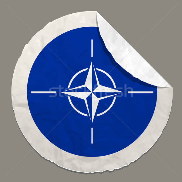 NATO flag on a paper label Stock photo © ayaxmr