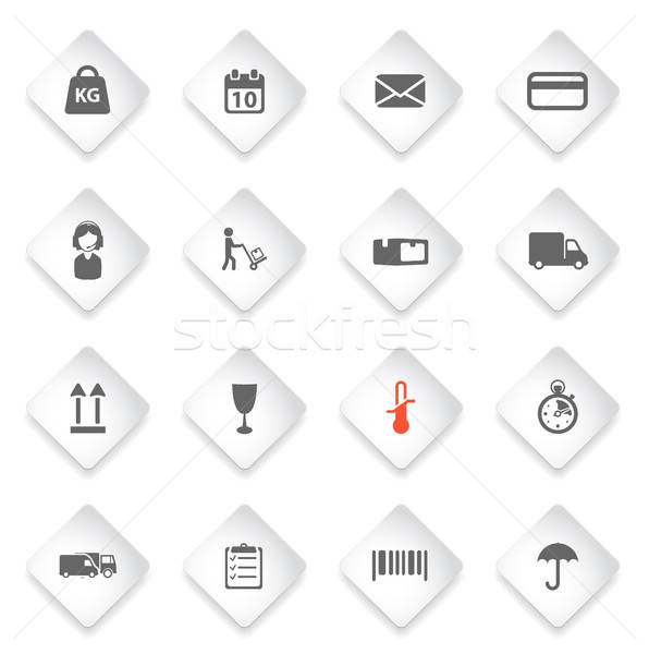 доставки просто иконки символ веб-иконы пользователь Сток-фото © ayaxmr
