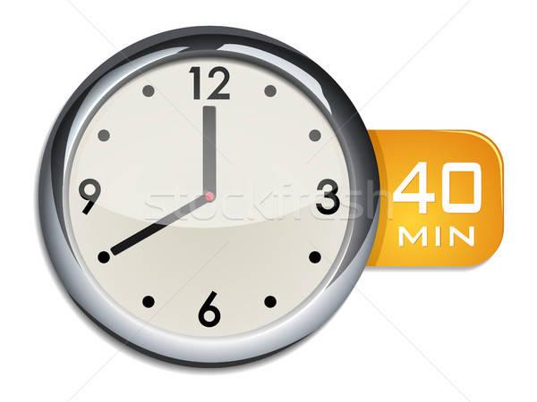 Iroda fal óra időzítő 40 jegyzőkönyv Stock fotó © ayaxmr
