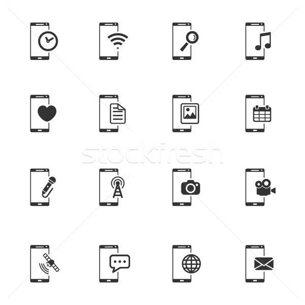 Simplesmente ícones símbolo os ícones do web usuário Foto stock © ayaxmr