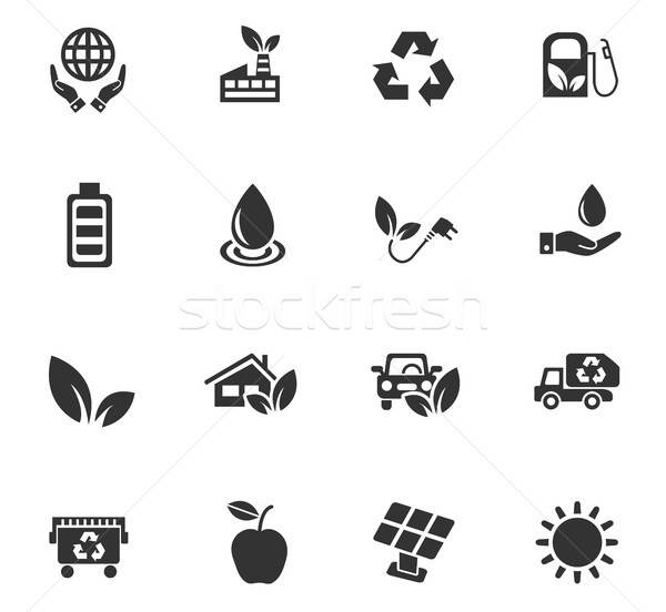 alternative energy icon set Stock photo © ayaxmr