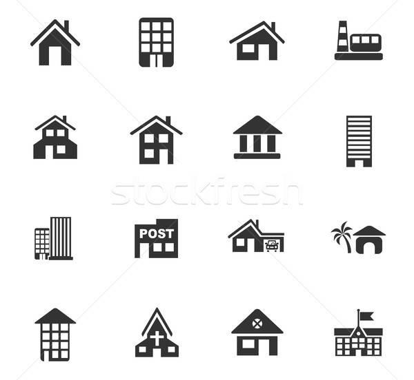 建物 webアイコン ユーザー インターフェース デザイン ストックフォト © ayaxmr