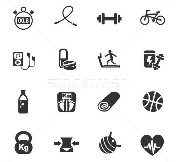 fitness icon set Stock photo © ayaxmr