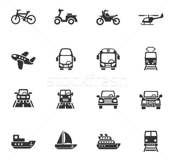 transport icon set Stock photo © ayaxmr