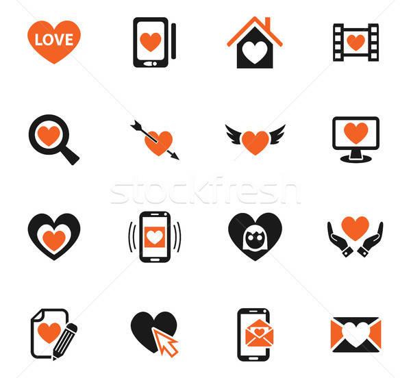 Amor iconos de la web usuario interfaz diseno Foto stock © ayaxmr