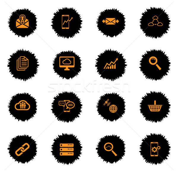 ストックフォト: データ · 分析的な · 単に · アイコン · ベクトル · ウェブ