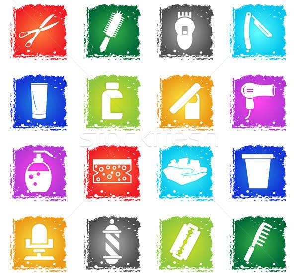 Iconos de la web grunge estilo usuario interfaz Foto stock © ayaxmr