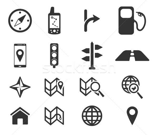 Navigasyon sadece simgeler simge web simgeleri kullanıcı Stok fotoğraf © ayaxmr