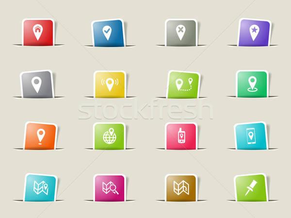 Kaarten web gebruiker interface kaart Stockfoto © ayaxmr