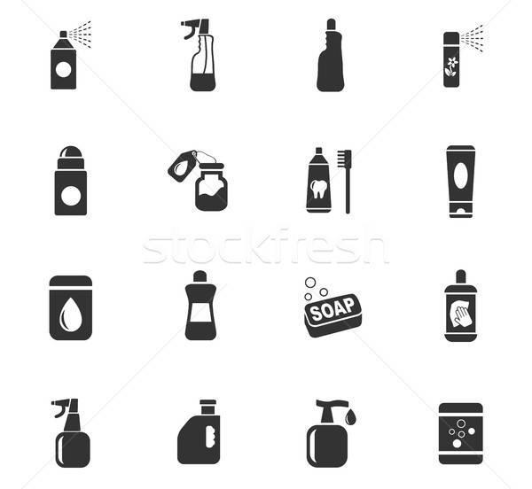 домашнее хозяйство химикалии веб-иконы пользователь интерфейс Сток-фото © ayaxmr
