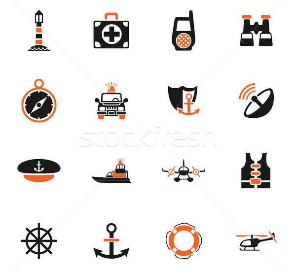 Web icons gebruiker interface ontwerp radio Stockfoto © ayaxmr