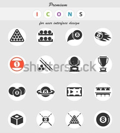 De bilhar simplesmente ícones teia usuário Foto stock © ayaxmr
