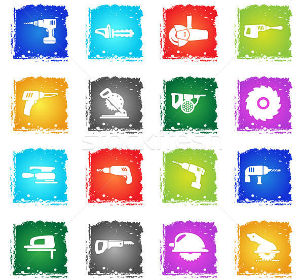 industrial equipment icon set Stock photo © ayaxmr