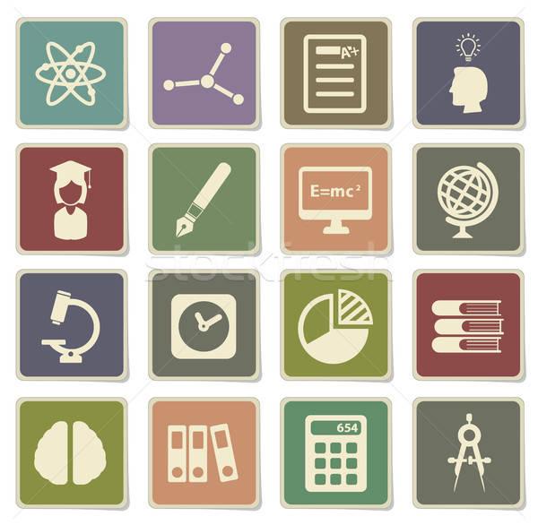 Foto d'archivio: Università · semplicemente · icone · vettore · web · utente
