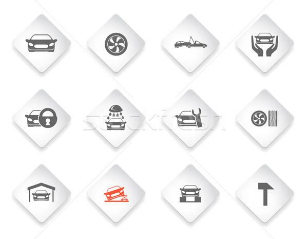 Auto dienst onderhoud diensten eenvoudig Stockfoto © ayaxmr