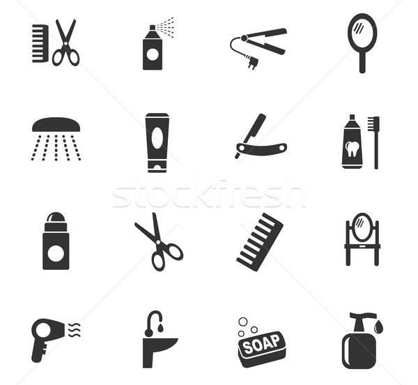 personal care icon set Stock photo © ayaxmr