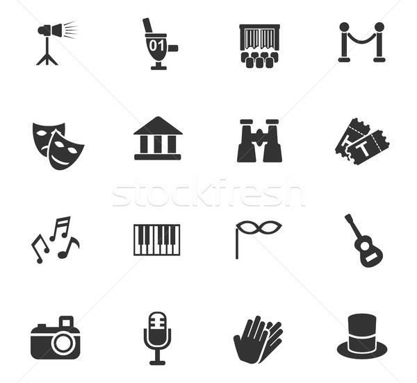Teatro iconos de la web usuario interfaz diseno Foto stock © ayaxmr