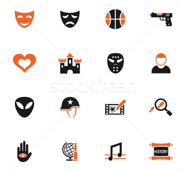 cinema genre icon set Stock photo © ayaxmr