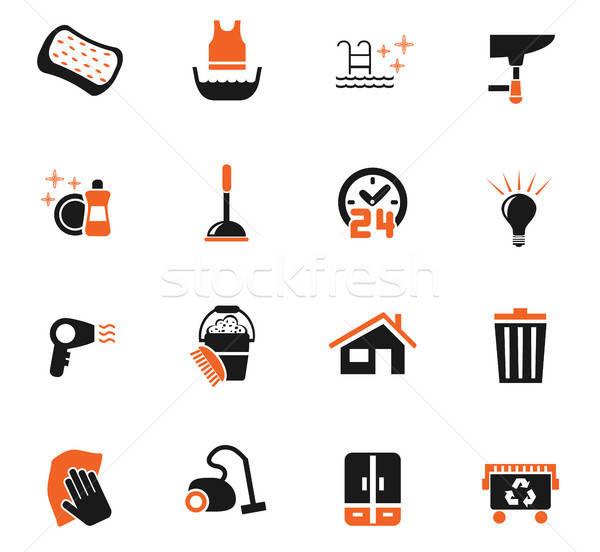 洗浄 会社 webアイコン ユーザー インターフェース ストックフォト © ayaxmr