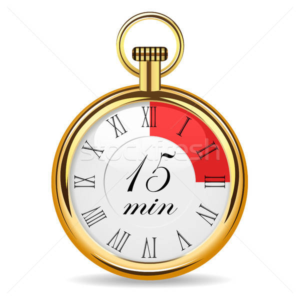mechanical watch timer 15 minutes Stock photo © ayaxmr
