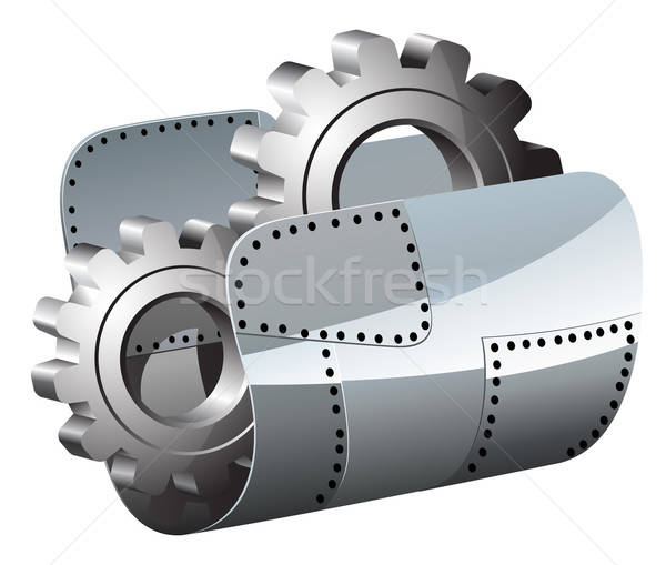 Steel settings folder vector illustration Stock photo © ayaxmr