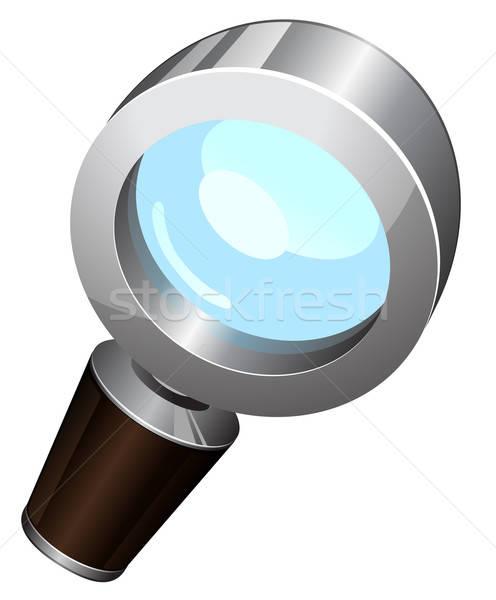 Vergrootglas eps 10 computer web tool Stockfoto © ayaxmr