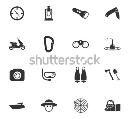 Actief ontspanning iconen eenvoudig web gebruiker Stockfoto © ayaxmr