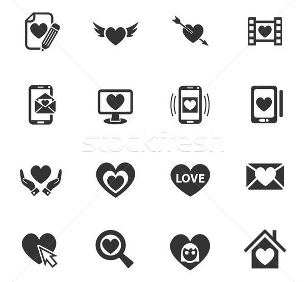 愛 webアイコン ユーザー インターフェース デザイン ストックフォト © ayaxmr
