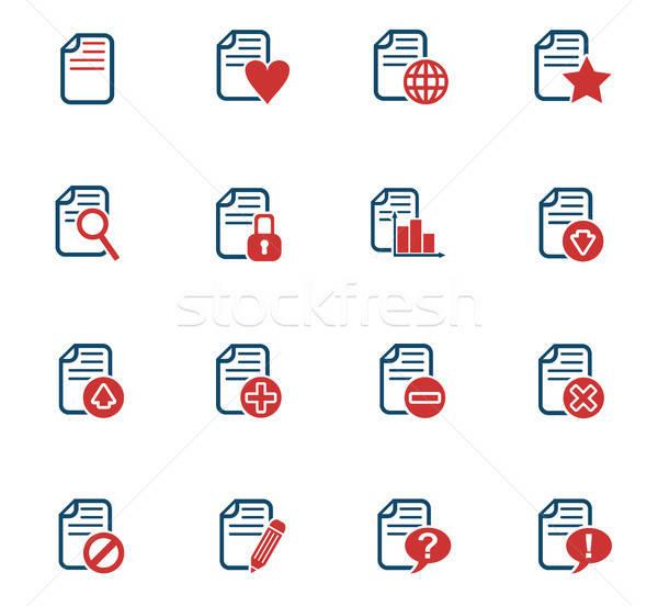 Stock photo: document icon set