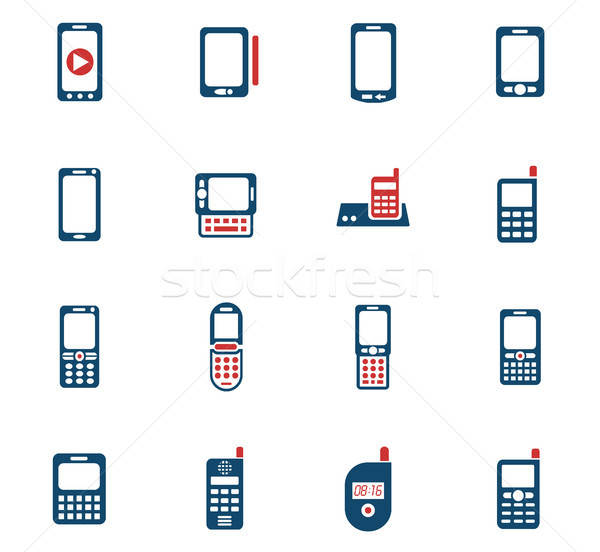 Telefoons web icons gebruiker interface ontwerp Stockfoto © ayaxmr