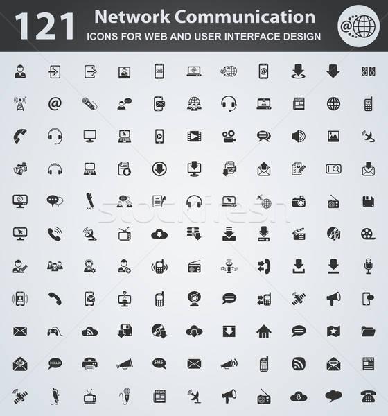Communicatie web icons gebruiker interface ontwerp Stockfoto © ayaxmr