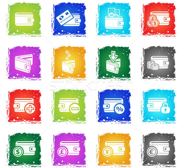 set of money icons Stock photo © ayaxmr
