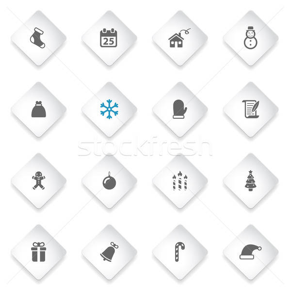 Navidad simplemente iconos símbolo iconos de la web usuario Foto stock © ayaxmr