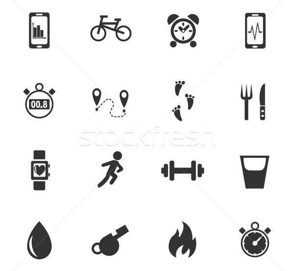 Ellenőrzés appok ikon gyűjtemény webes ikonok felhasználó interfész Stock fotó © ayaxmr