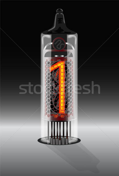 Digit 1 on vintage vacuum tube display Stock photo © ayaxmr