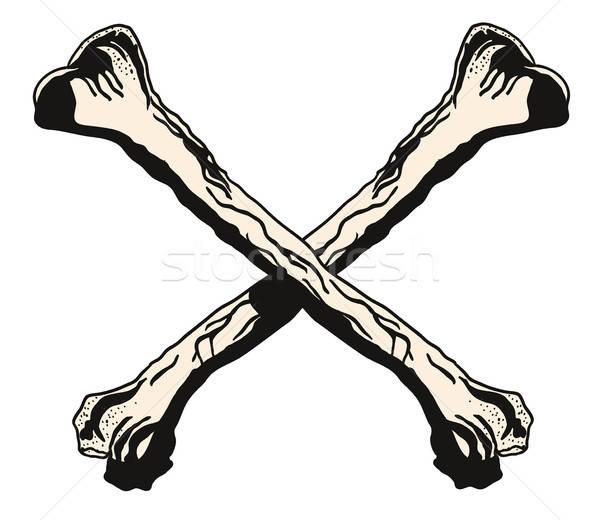 Crossbones vector illustration Stock photo © ayaxmr