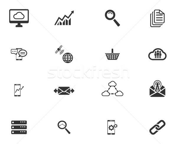 Dados analítico simplesmente ícones símbolos os ícones do web Foto stock © ayaxmr