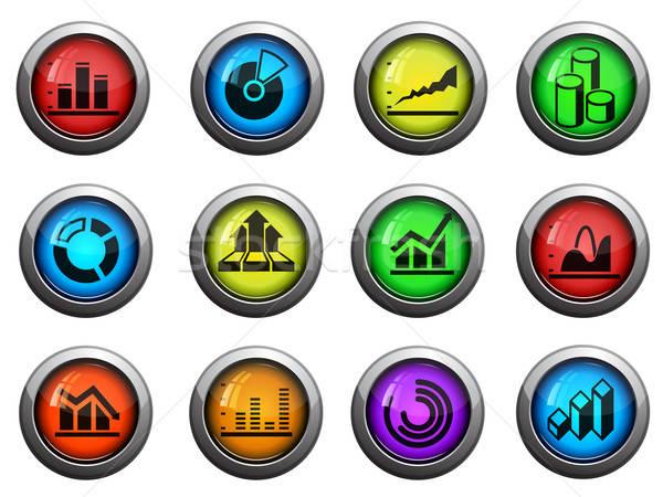 Information graphic icons set Stock photo © ayaxmr