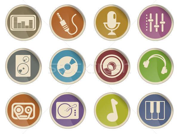 Audio & music icons Stock photo © ayaxmr