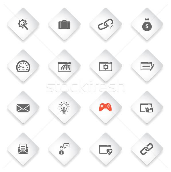 Seo desenvolvimento simplesmente ícones símbolos os ícones do web Foto stock © ayaxmr