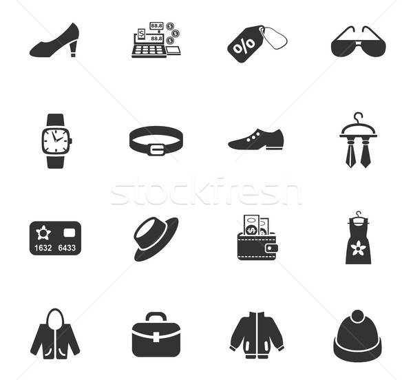 clothes shop icon set Stock photo © ayaxmr