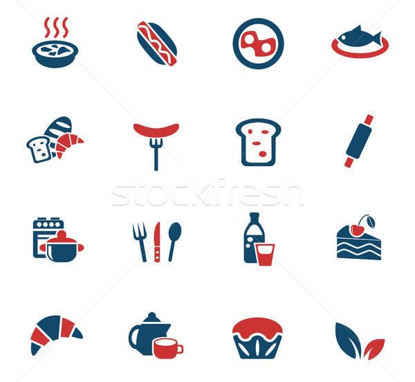 Alimentos cocina iconos de la web usuario interfaz Foto stock © ayaxmr