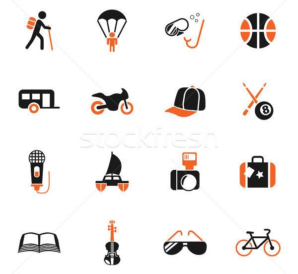 Estilo de vida iconos de la web usuario interfaz diseno Foto stock © ayaxmr