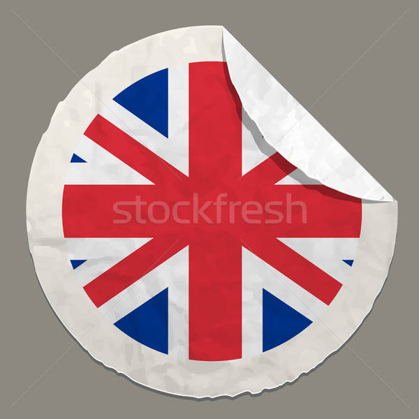 English flag on a paper label Stock photo © ayaxmr