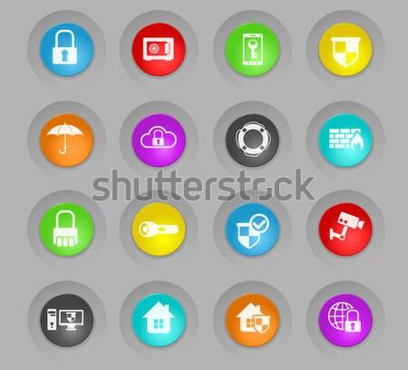 Boxe vetor ícones teia usuário Foto stock © ayaxmr